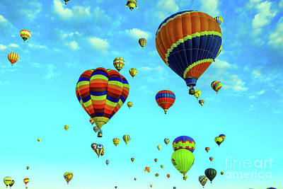 Royalty-Free and Rights-Managed Images - Balloons in the sky by Jeff Swan