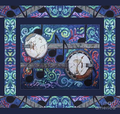 Painting - Banjos Bordered by Sue Duda