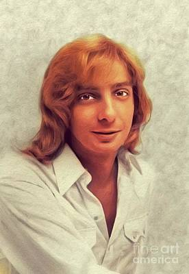 Music Paintings - Barry Manilow, Music Legend by Esoterica Art Agency