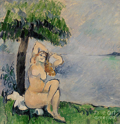 Painting - Bather At The Seashore by Paul Cezanne
