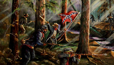 Painting - Battle Of Chancellorsville - The Wilderness by Philip Bracco