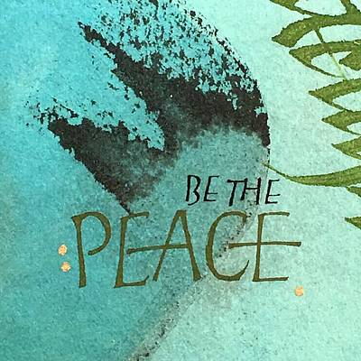Be The Peace Art Print