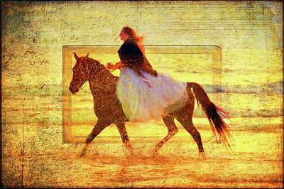 Photograph - Beach Rider by Alice Gipson