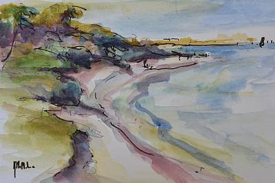 Wall Art - Mixed Media - Beach Walkers by Kathryn McMahon