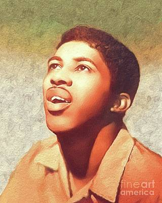 Music Paintings - Ben E. King, Music Legend by Esoterica Art Agency