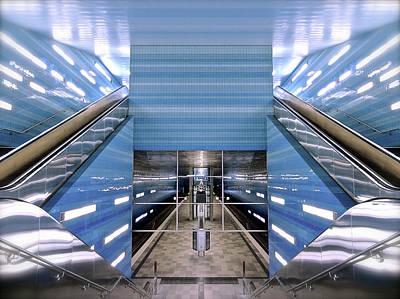 Photograph - Überseequartier Station, Hamburg by Ken Lee