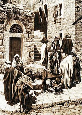 Target Threshold Watercolor - Bethlehem 1925 by Munir Alawi