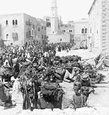 Photograph - Bethlehem Manger Square 1900 by Munir Alawi