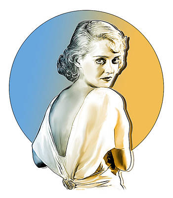 Digital Art Rights Managed Images - Bette Davis Royalty-Free Image by Greg Joens