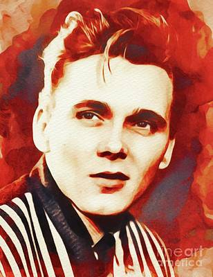 Music Paintings - Billy Fury, Music Legend by Esoterica Art Agency