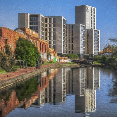 Photograph - Birmingham Uni Reflection by Chris Fletcher