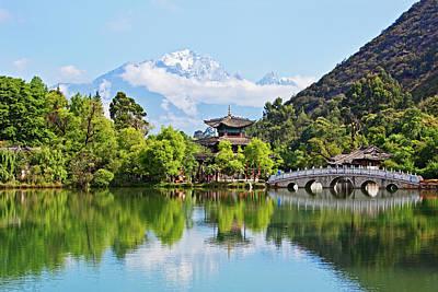 Photograph - Black Dragon Pool, Lijiang, Yunnan by John W Banagan