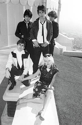 Photograph - Blondie Portrait Session At Griffith by Michael Ochs Archives