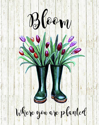 Painting - Bloom Where You Are Planted by Elizabeth Robinette Tyndall