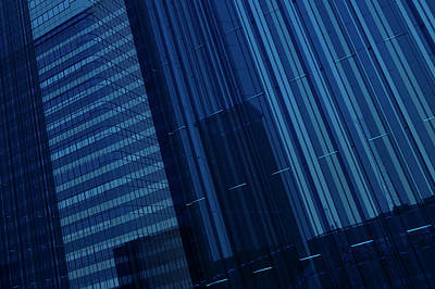 Digital Art - Blue Glass Building by Mmdi