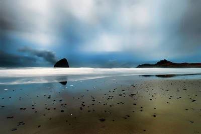 Photograph - Blue Hour At Cape Kiwanda In Pacific City On The Oregon Coast by Dee Browning