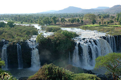 Blue Photograph - Blue Nile Falls, Ethiopia by Christophe cerisier