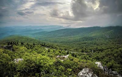 Photograph - Blue Ridge Mountains Rough Ridge Landscape Look Out by Alex Grichenko