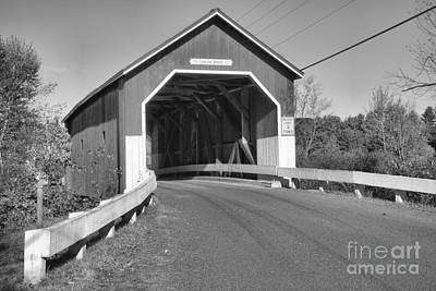 Photograph - Blue Skies Over The Carleton Covered Bridge by Adam Jewell