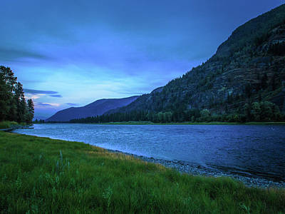 Photograph - Blue Sunset by David Heilman