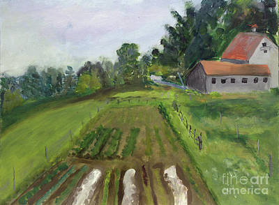 Painting - Bluff Farm In Newport by Donna Walsh