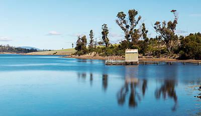 Photograph - Boat Jetty Found On Bruny Island In Tasmania, Australia. by Rob D