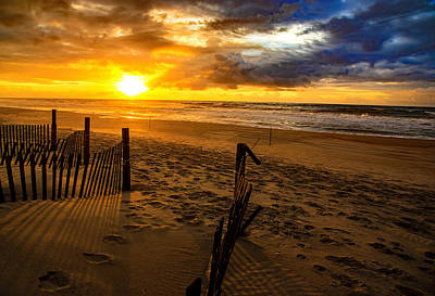 Photograph - Bogue Banks Sunrise  by John Harding