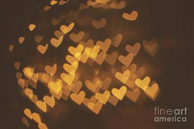 Photograph - Bokeh Of Hearts by Mariusz Talarek