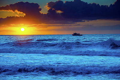Photograph - Bold And Bright Sunrise Seascape by Merrillie Redden