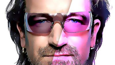 Bono Mixed Media - Bono by Marvin Blaine