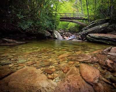 Boone Fork Bridge - Blue Ridge Parkway - North Carolina Art Print