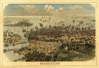 Photograph - Boston 1850 by Andrew Fare