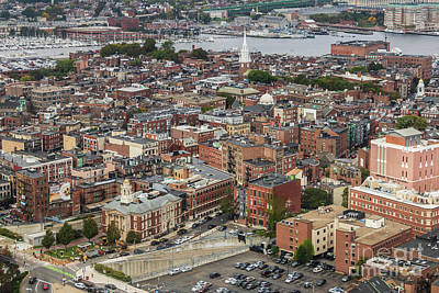 Photograph - Boston Government Center, North End And Harbor by Thomas Marchessault