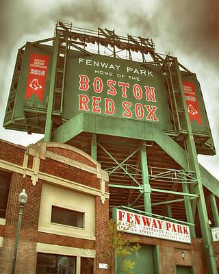 The Beatles - Boston Red Sox Fenway Park Scoreboard by Joann Vitali