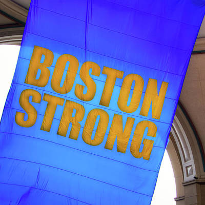 Royalty-Free and Rights-Managed Images - Boston Strong - Boston Marathon Banner by Joann Vitali