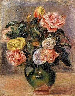 Katharine Hepburn - Bouquet of Roses by Pierre Auguste Renoir
