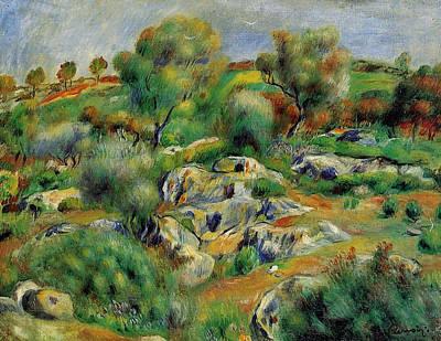 Moody Trees - Breton Landscape by Pierre Auguste Renoir