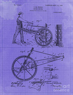 Royalty-Free and Rights-Managed Images - Brick Truck Patent year 1905 by Drawspots Illustrations