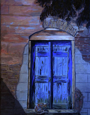 Painting - Bridgetown Doorway And Cat by Deborah Smith