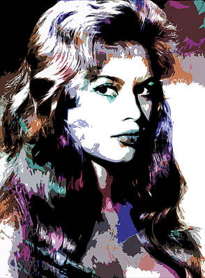Wine Glass - Brigitte Bardot by Stars on Art
