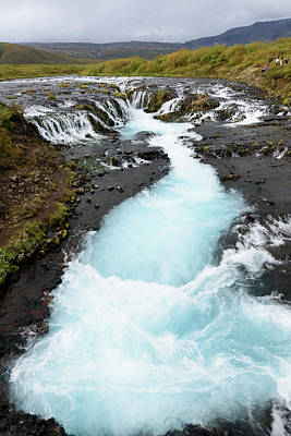 Photograph - Bruarfoss Waterfall by RicardMN Photography