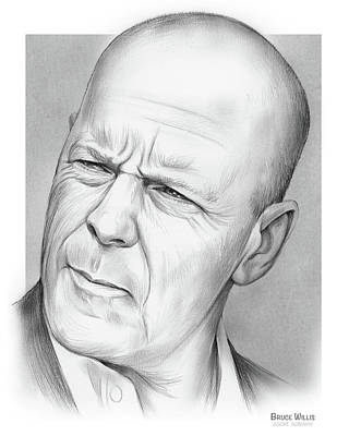 Vintage Food Signs - Bruce Willis by Greg Joens