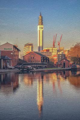 Photograph - Bt Tower Sunset Reflection by Chris Fletcher