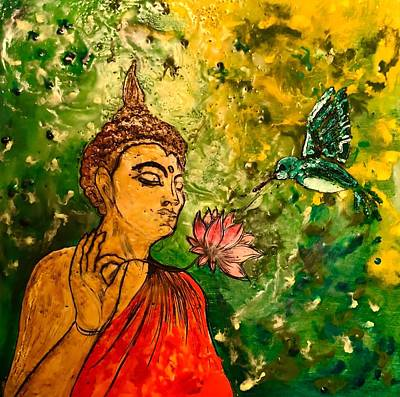 Painting - Buddha In Nature by Michael Giannella