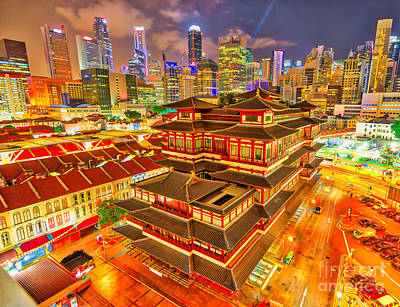 Photograph - Buddha Tooth Relic Temple by Benny Marty