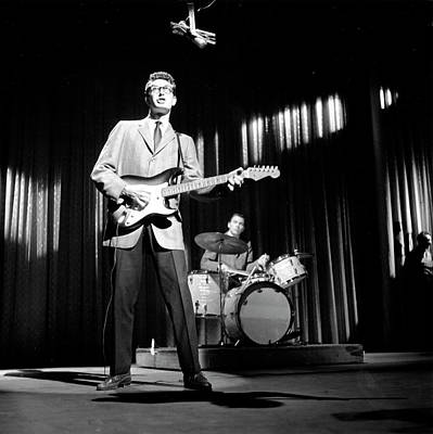 Photograph - Buddy Holly & The Crickets by Michael Ochs Archives