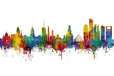 Digital Art - Buenos Aires Argentina Skyline by Michael Tompsett