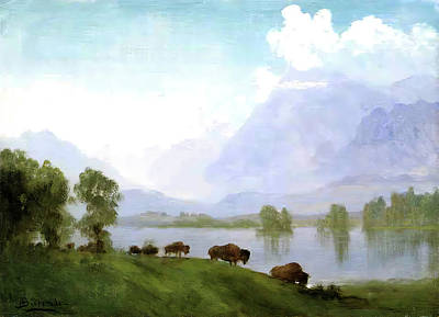 Photograph - Buffalo Country by Albert Bierstadt
