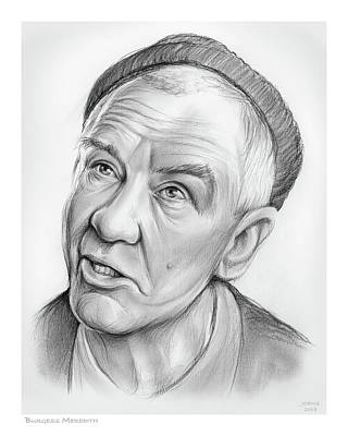 Drawings Royalty Free Images - Burgess Meredith Royalty-Free Image by Greg Joens