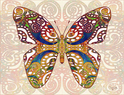 Mixed Media - Butterfly Illustration - Transforming Rainbows  - Omaste Witkowski by Omaste Witkowski